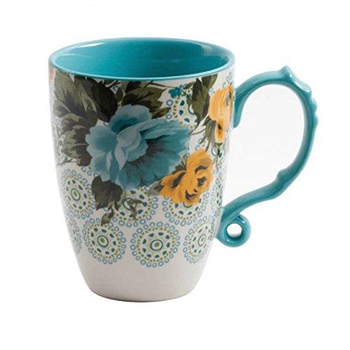 (The Pioneer Woman Rose Shadow 24-Ounce Floral Jumbo Latte Mug)