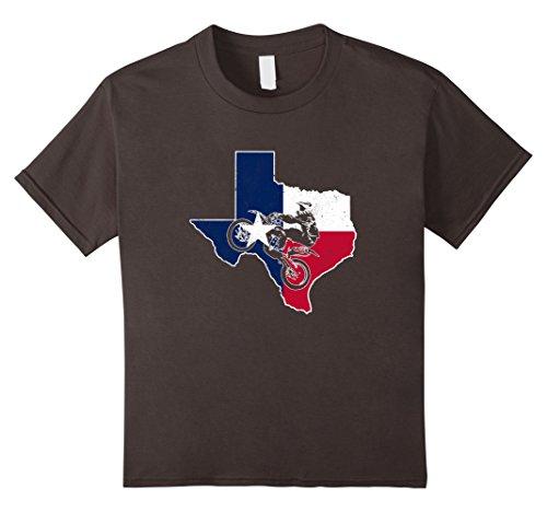 Kids Texas Flag Dirt Bike Racing T Shirt 6 Asphalt Texas Dirt Shirt