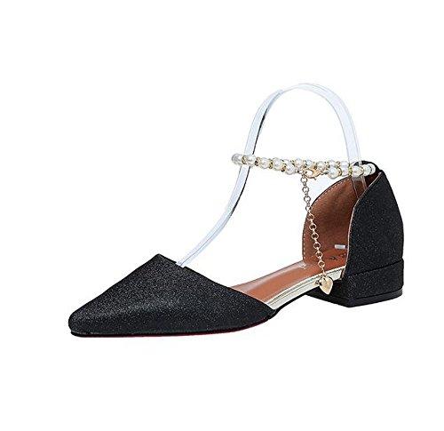 De estilo palabra de las sandalias de la hebilla de las mujeres moldeadas zapatos aumentaron C
