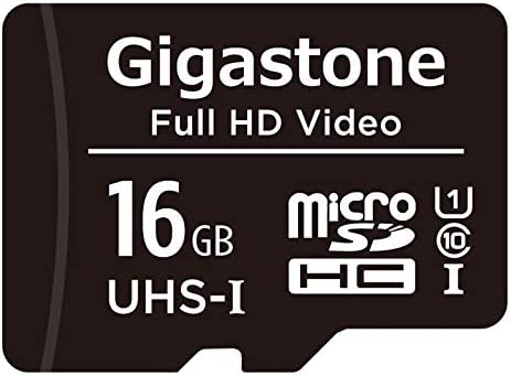 Gigastone 16GB Micro SD Card, Full HD Video, Surveillance Security Cam Action Camera Drone, 85MB/s Micro SDHC UHS-I U1 C10 Class 10