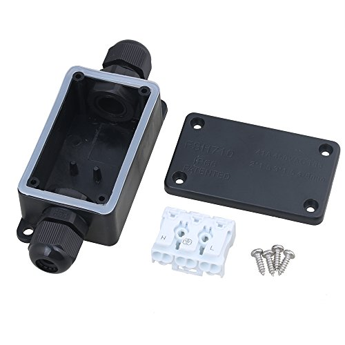 Terminals Waterproof Black Ip66 P02-3 Terminal Outdoor 2 Cable Plastic Junction Box Handsome Appearance