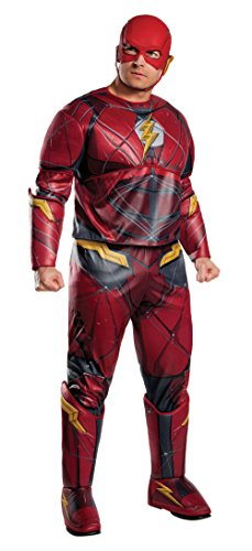 Rubie's Costume CO. Men's Justice League Deluxe Plus Size Flash Costume