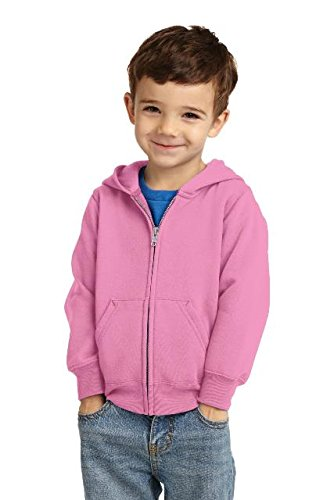 Precious Cargo Toddler Full-Zip Hooded Sweatshirt. CAR78TZH Candy Pink (Toddler Full Zip Sweatshirt)