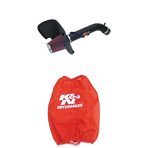 (K&N 57-9015-1 Performance Air Intake System with Red Air Filter Wrap)