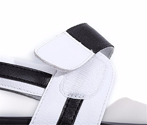 da 39 fondo caviglia UE toe YMFIE punta estate cinturino scarpe EU alla antiskid spiaggia Ladies' 38 confortevoli piatto sandali a qF0g6nwt0U