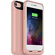 mophie juice pack wireless  - Charge Force Wireless Power - Wireless Charging Protective Battery Pack Case for iPhone 7 – Rose Gold