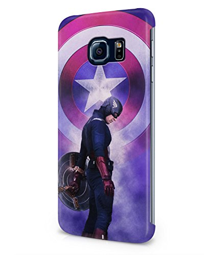 Captain America The First Avenger Superhero Plastic Snap-On Case Cover Shell For Samsung Galaxy S6 EDGE