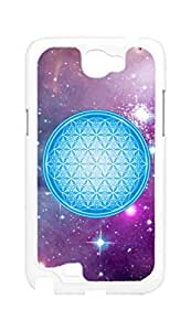 flower of life Snap-on Hard Back Case Cover Shell for Samsung Note 2 N7100 N7108 N7102 N719 -1289