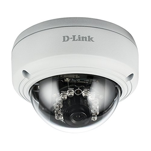 Black & White Video Camera - D-Link Vigilance Full-HD Dome Camera, White/Black (DCS-4602EV)