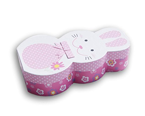 Easter Bunny Pink Patterned Gift Box - 5.5 x 10.25 x 3 Inche