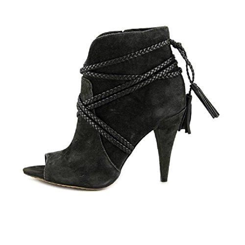 Vince Camuto Astan Braided-Strap Booties Women's Shoes, Charcoal, Size 7.5 by Vince Camuto