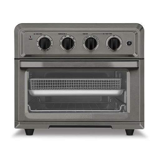 Cuisinart TOA-60BKS Air Fryer Toaster Oven, Black Stainless