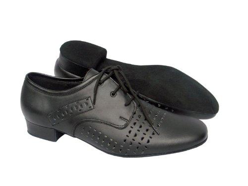 "Männer Ballroom Dance Schuhe für Latin Salsa Tango Unterschrift ST38 Schwarz Leder 1 """