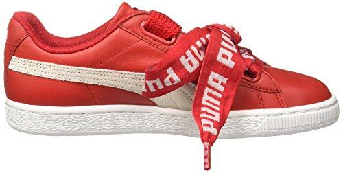 Puma Basket Basse White Donna Scarpe Patent Ginnastica Red da Wn's Heart wwqr0a