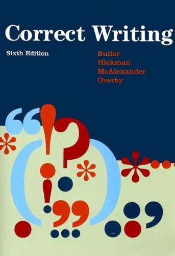 Correct Writing by Butler, Eugenia (EDT)/ Hickman, Mary A./ Butler, Eugenia