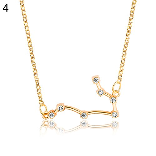 Yimosecoxiang Fashionable Lucky 12 Constellations Pendant Guardian Necklace  Birthday Valentine s Day Gift - Golden Taurus  Amazon.co.uk  Jewellery f7aa3cdd9816
