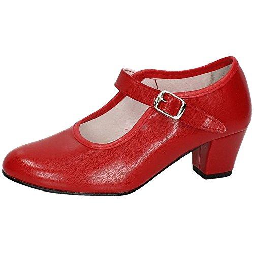 CREACIONES PASOS DE BAILE S.L. - Zapato - Carleti 15 Flamenca Rojo, Talla: 31