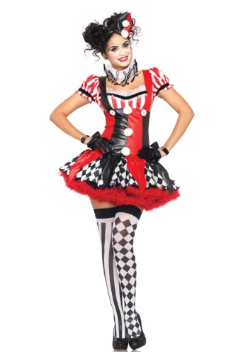 Disfraz De Bufon Halloween (Leg Avenue Women's Costume, Black/red,)
