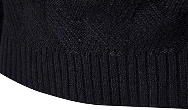 Męski sweter z długim rękawem casual okrągły dekolt wycięcie Knit sweter wiosna jesień modny swobodny sweter dziergany: Odzież