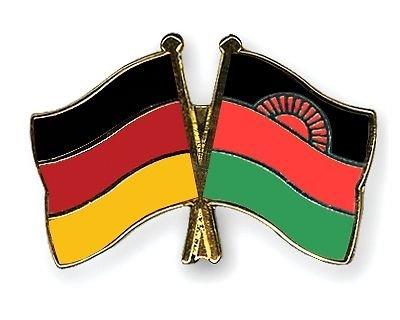 Malawi Allemagne & drapeaux de l'amitié, pour couple plaqué or-Gifts Épinglette émaillée