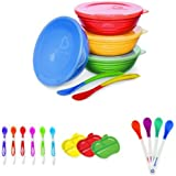 Munchkin Love a bowls, Soft Tip Spoons, Lil Apple plates and Safety Spoon Bundle