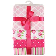 Hudson Baby Flannel Receiving Blankets, Pink