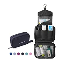 Travel Hanging Toiletry Bag, Waterproof Travel kit bags, Makeup Cosmetic Organizer Bathroom Shaving Case for Men/Women (Black)