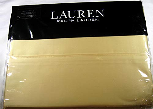 (Lauren Queen Italian Straw Dunham Sateen Sheet Set)
