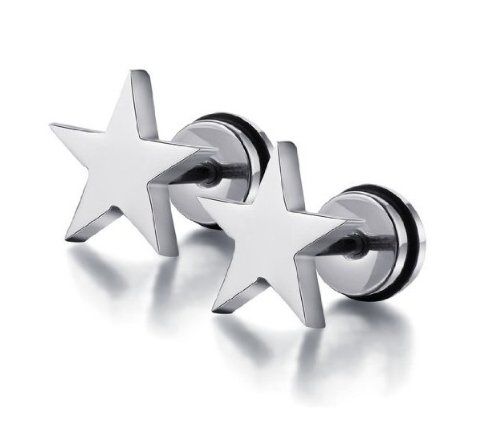 Aegean Jewelry Titanium Lady's Charming Stud Earring with a Gift Box and a FREE Small -