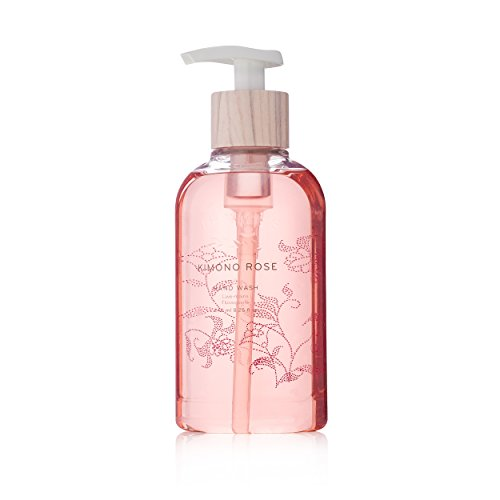 The Thymes Vanilla Body Wash (Thymes - Kimono Rose Hand Wash with Pump - Hydrating Liquid Hand Soap with Soft Vanilla Rose Scent - 8.25 oz)