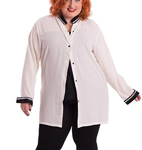 Susana Escribano I167-Bl003, Blusa para Mujer, Beige, 50 (Tamaño del Fabricante:50)