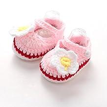 TRENDINAO Newborn Baby Girls Crib Crochet Handmade Knit Sock Daisy Shoes