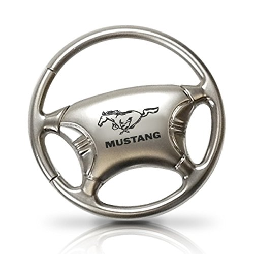 Ford Mustang Logo Steering Wheel Key Chain, Official Licensed Ford Mustang Logos