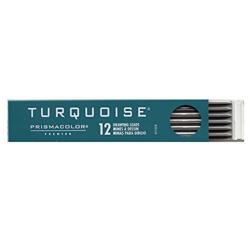 2 Leads Mm Turquoise (Prismacolor Premier Turquoise Drawing Lead Refills, 2.0 mm, Pack of 12, 5H (2183))