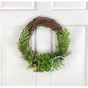 """14"""" Succulent Wreath 120"""
