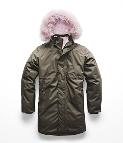 The North Face Kids Girl's Arctic Swirl Down Jacket (Little Kids/Big Kids) New Taupe Green Small ()