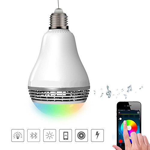 Smart LED Light Bulb , Xboun E26 / E27 Smartphone Controlled Dimmable Multicolored Color Changing Lights&Music Ball LED - Works with iPhone 7 / Galaxy S7, More iPhone, iPad, Android and Tablet