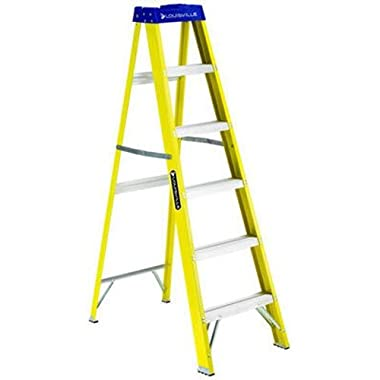 Louisville Ladder FS2006 250-Pound Duty Rating Fiberglass Step Ladder, 6-Feet