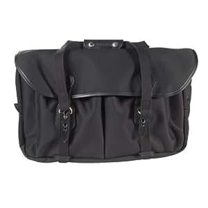 Billingham 555 - Bolsa de lona para cámara con borde de cuero, color negro