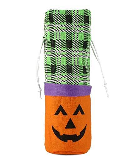 Majinz Store 3 pc Wine Bottle Cover Creative Cartoon Halloween Wine Bag Bottle Decoration Wine Bottle Costume for Party Restaurant Kitchen]()