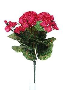 35cm artificial rosa geranio flores Bush–Ideal para cajas de ventana para colgar cestas y casa