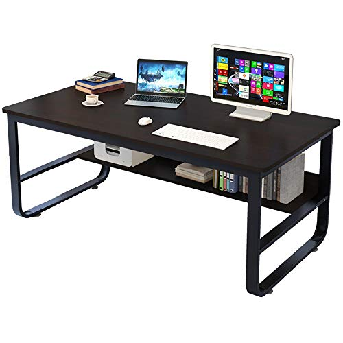 Fullfun Home Desk Student Writing Desktop Double Deck Modern Simple Economic Computer Desk 55 x 30