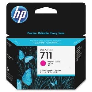 HP CZ135A 711, (CZ135A) 3-Pack Magenta Original Ink Cartridges