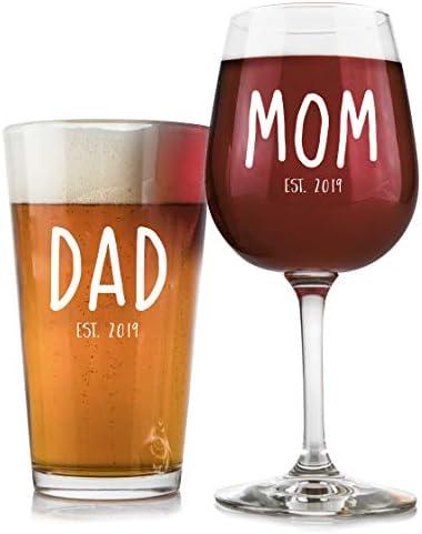 Parents Pregnancy Announcement Glass 12 75 product image