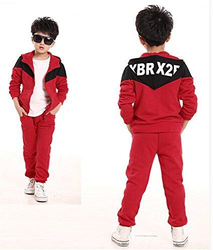 ODFAPP Adorable 2016 Retail Children jogging tracksuit sport set hooded coat + pants kids Boys baby spring autumn clothes Suit model 45T - Malls Richmond Va