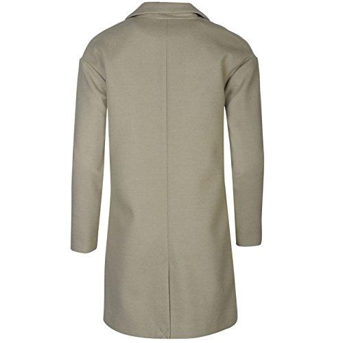 Firetrap Blackseal largo Longitud Crombie abrigo chaqueta para mujer gris abrigo Outerwear