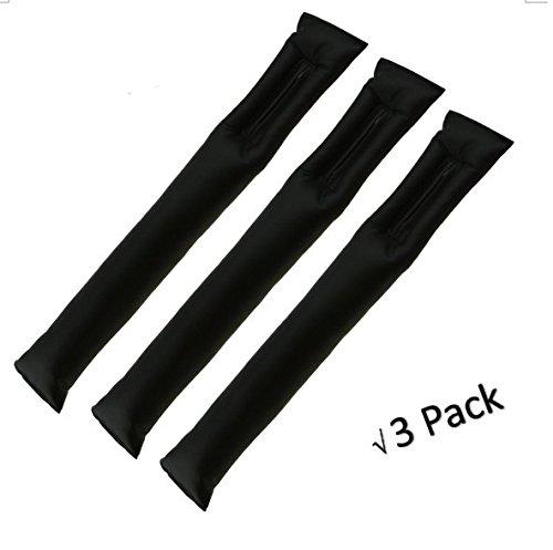 [Hikeren Universal PU Leather Car Seat Hand Brake Gap Filler Pad-Black (Set of 3)] (Seat Filler)