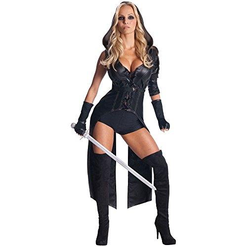 [Secret Wishes Womens Sucker Punch Sweet Pea Costume, Black, Small] (Round 3 Costumes)