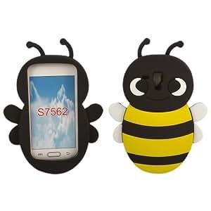 Bumble Bee Silicona Caso Cubrir Concha Para Samsung Galaxy S Duos S7562 / Yellow