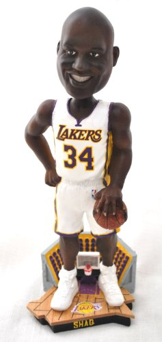 Shaq Oneil #34 Official NBA courtside 12'' Bobble Head LA Lakers White jersey by forever